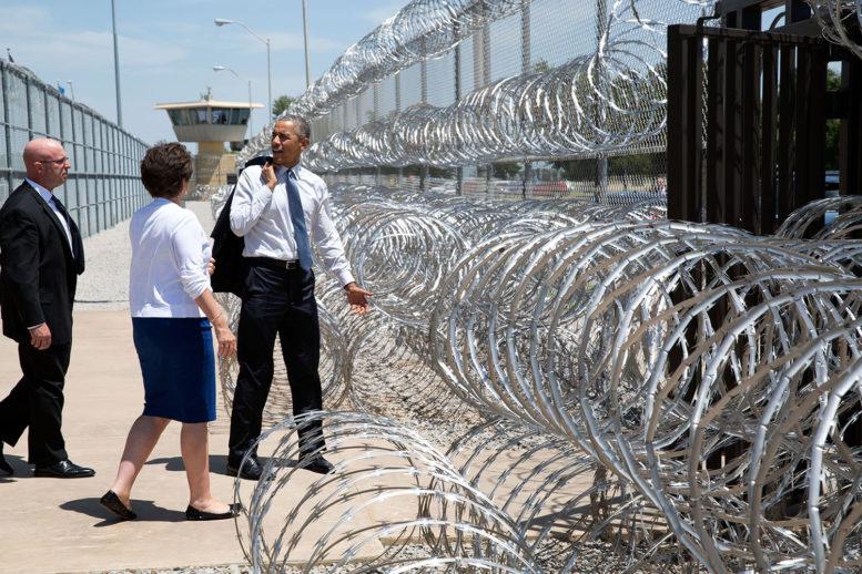 Barack Obama departs El Reno Prison