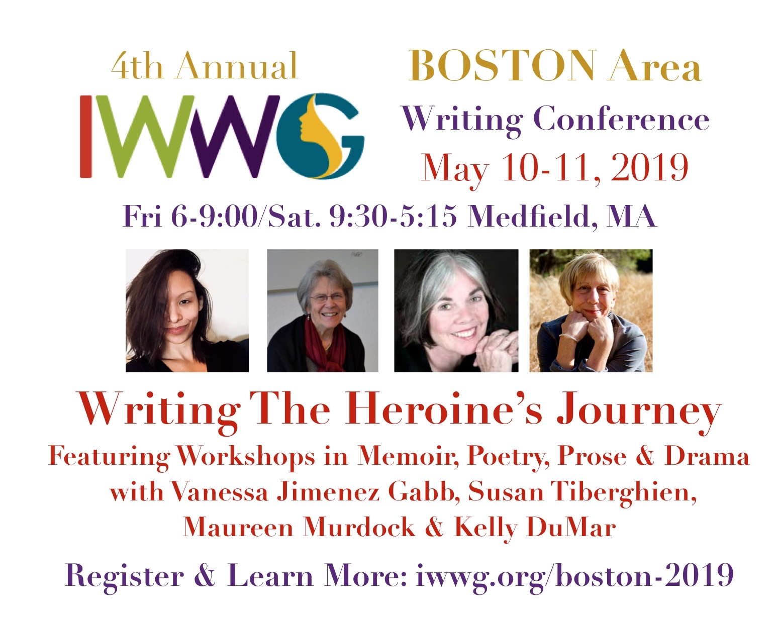 IWWG Writing Conference May 10-11, 2019